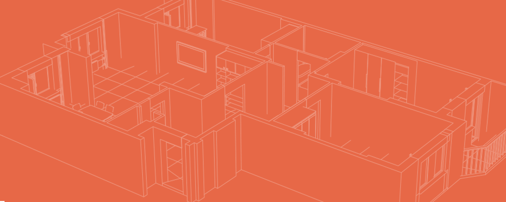 Slide Orange background - house drawings